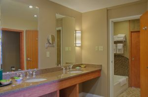 Gregson Suite Bathroom at Fairmont Hot Springs Resort